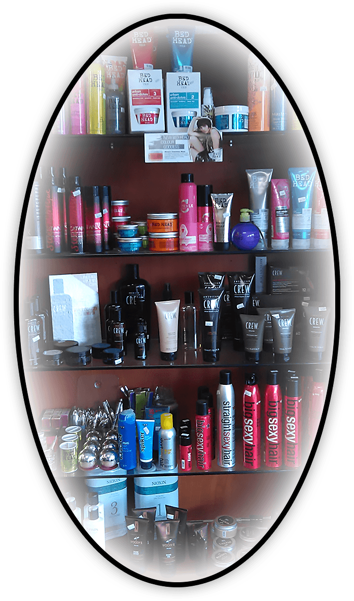 Oval Graphic of Hair Products for sale at Klassy Kuts